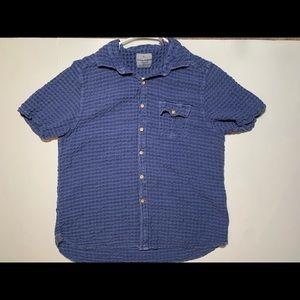 Tommy Bahama Jean Mens Blue Short Sleeve Shirt MD